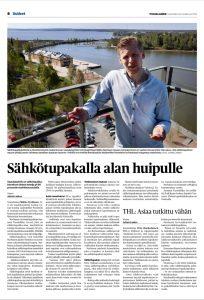 Suomen Tuontiliikkeen toimitusjohtaja Mikko Nyrhisen haastattelu Pohjalaisessa.