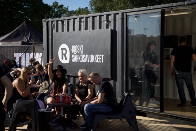 Sähkösavukealue Tuska-festivaaleilla vuonna 2019