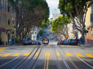 Kuva San Franciscon kadusta.